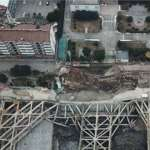 南京建案工地大面積塌陷  居民凌晨撤離