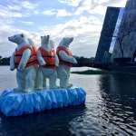 全球暖化首批「北極熊難民」 現身蘭陽博物館「求關注」