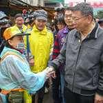 柯文哲榮濱商圈拜早年 盼年輕人走進市場、買菜創新風味
