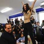 義大利大選》貝魯斯柯尼投票,女權主義者上空鬧場