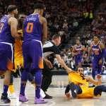 NBA》太陽惡意犯規與爵士爆衝突 盧比歐兩次被撂倒在地