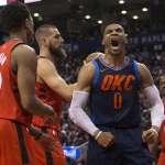 NBA》雷霆驚險終止暴龍11連勝 哨聲趕三人出場