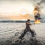 東海岸火舞藝術祭 用火光照亮花蓮海濱