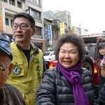 陳菊為梁文傑台北街頭拜票 民眾高呼選台北市長