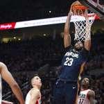 NBA季後賽》哈勒戴關鍵火鍋 鵜鶘客場爆冷奪勝
