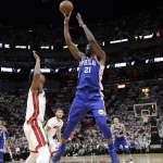 NBA季後賽》安比德戴面具回歸 76人再度血洗熱火