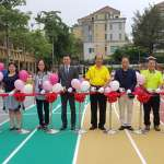 竹市校園首座彩虹跑道啟用 民眾踩點打卡新熱點