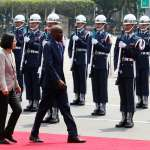海地總統來台談兩國合作計畫 蔡總統軍禮相迎
