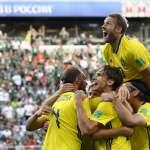 世足賽果》F組:瑞典3比0血洗墨西哥,以分組第1晉16強