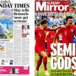 世足》英格蘭晉級4強 《鏡報》:超凡入聖!