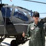 台灣首位阿帕契女飛官亮相 父親也是飛行員