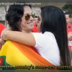 南美洲彩虹旗飄揚!哥斯大黎加宣告同性婚姻禁令違憲,1年半之內失效