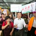 選戰倒數將破百!蘇貞昌強化「地面戰」赴市場掃街