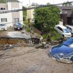 北海道強震》「難以置信,我還以為是錯覺!」人車遭地面吞食,札幌驚現土壤液化
