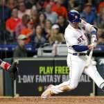 MLB》太空人柏格曼近期棒子火燙 賽後模仿哈登更是一絕