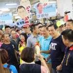 馬英九竹市掃街提振藍軍士氣 力挺許明財重返竹市府執政