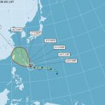 潭美颱風最快午後升級強颱 明後2天是侵台與否關鍵!