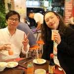 陳其邁捕獲野生唐鳳 現場直播吃肉粽、談科技