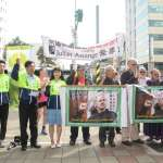 聲援維基解密創辦人阿桑奇 民團赴AIT抗議美國迫害