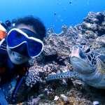 大部分的人把潛水當消遣,她卻把潛水當飯吃!決定走這行,竟起因於一次「意外」