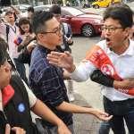 郝龍斌、丁守中路口拜票 社民黨候選人游藝嗆:大巨蛋圖利財團怎麼解決?