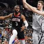NBA》CP3滿血復出 德州內戰大勝馬刺31分