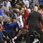 NBA》雷霆主場大勝公牛 肢體衝突成焦點