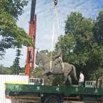 台中市長交接前一天「鐵砧山蔣公銅像」遭移往公墓挨批 中市府的回應是...