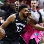 NBA》唐斯豪取34分滅火 灰狼近四戰拿3勝
