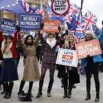 英國脫歐協議慘遭壓倒性封殺 從國會到街頭「留歐」與「無協議脫歐」兩派一家親