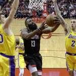 NBA》哈登飆48分延長賽勝湖人 連續19場至少30分比肩張伯倫