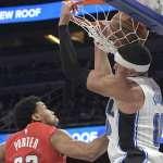 NBA》葛登反手扣嗨翻啦啦隊美女 魔術仍不敵巫師