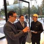 台灣首位政治人物訪Apple Park 朱立倫:蘋果不能沒有台灣!