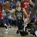 NBA》勇士「五星戰隊」首敗陣 火箭「三殺」柯爾王朝成史上第2隊