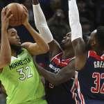 NBA》唐斯狂砍40分16籃板 灰狼延長賽勝巫師