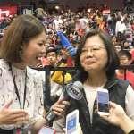 最大咖球迷來了!蔡英文突現身HBL女籃冠軍賽 31年首位觀戰總統