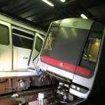 香港地鐵碰撞,兩列車嚴重毀損:荃灣綫中環至金鐘全日停運,上班交通大亂