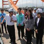 饒慶鈴陪同立委視察 協調電塔拆除及加速拓寬期程