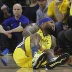 NBA季後賽》卡珍斯股四頭肌撕裂可能報銷 勇士3連霸之路凶多吉少