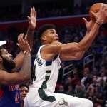 NBA季後賽》字母哥送活塞14連敗紀錄 公鹿創史上第二大勝分差