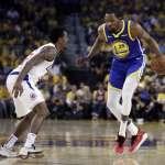 NBA季後賽》杜蘭特45分白搭 快艇板凳奇兵發威,暫攔截勇士晉級之路