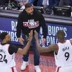 NBA季後賽》暴龍主場痛宰公鹿 系列賽扳平戰局