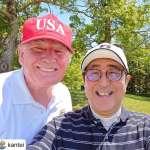 小白球外交》川普與安倍晉三以球會友 日本高爾夫名將青木功果嶺作陪
