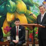 接見美台裔大學生 陳建仁:台灣是印太地區民主燈塔,必須珍惜