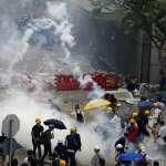 港警動用橡膠彈驅離「反送中」群眾 民進黨團譴責粗暴鎮壓:我們與民主力量站在一起