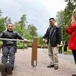 侯友宜北歐行首站芬蘭 參訪高齡公園共融遊具設計