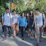 與台灣青年在紐約健走 蔡英文:已有很多人跟我說要回來投票