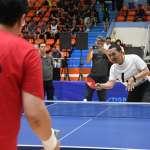 新北盃桌球及籃球友誼賽開幕 侯友宜笑向媒體隊「宣戰」