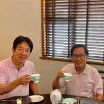 臉書曬與賴清德「撞衫」合影照 陳水扁:2年未見,共同舉杯為台灣祈福