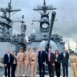 AIT處長南下高雄》登上台灣噸位最大基隆級驅逐艦參觀 酈英傑:台灣是印太地區不可或缺一員